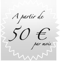A partir de 50 € / mois
