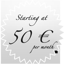 Starting at 50 € / month